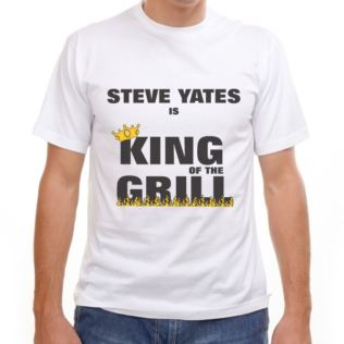 King of the Grill Personalised T-Shirt Product Image