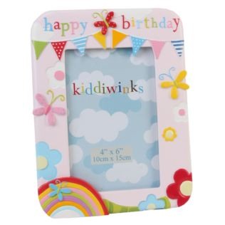 Happy Birthday Pink Kiddiwinks Photo Frame Product Image