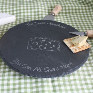 Personalised Slate Lazy Susan Product Image