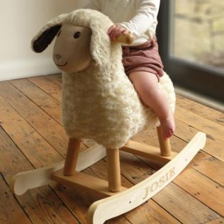 Personalised Lambert The Sheep Infant Rocker - 9 Months + Product Image