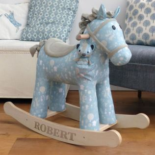 Finn & Munchkin Personalised Rocking Horse 12 Months + Product Image