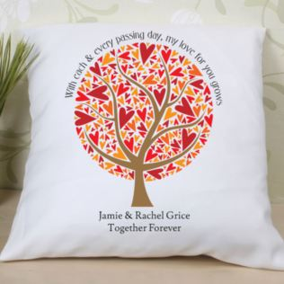 Leaves of Love Personalised Cushion Product Image