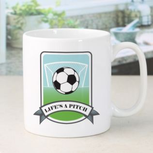 Personalised Life's A Pitch Football Mug Product Image