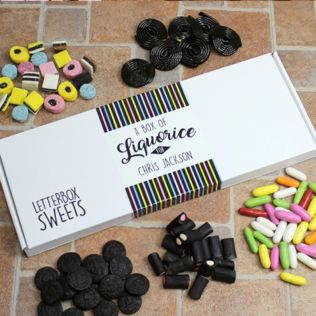 Personalised Liquorice - Letterbox Sweets Product Image