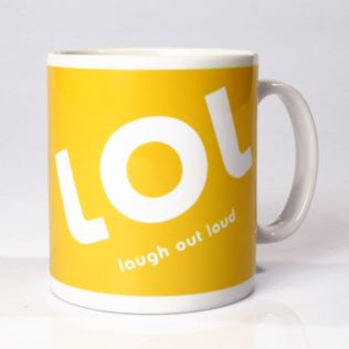 Personalised LOL Txt Mug Product Image