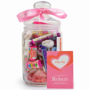 Love Lolly May Glass Personalised Sweet Jar Product Image