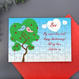Personalised Love Birds Jigsaw Product Image