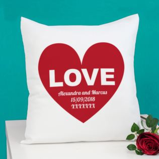 Personalised Love Cushion Product Image