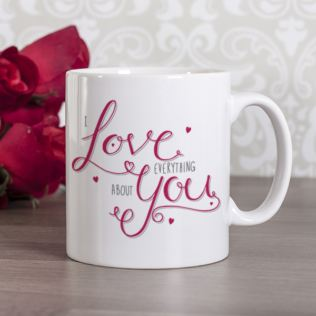 Personalised I Love Everything About You Mug Product Image