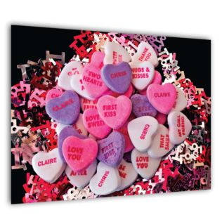 Personalised Poster Love Hearts Design - Product Image