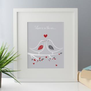 Love Is In The Air Personalised Framed Print Product Image