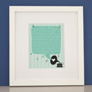 Personalised Our Song Framed Print Product Image