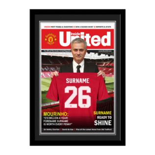 Personalised Manchester United Magazine Cover - Framed Product Image
