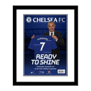 Personalised Chelsea Magazine Cover - Framed Product Image