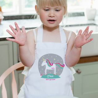 Personalised Magical Unicorn Childrens Apron Product Image