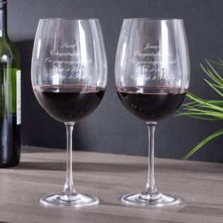 Personalised Magnum Bordeaux Large Wine Glasses Product Image