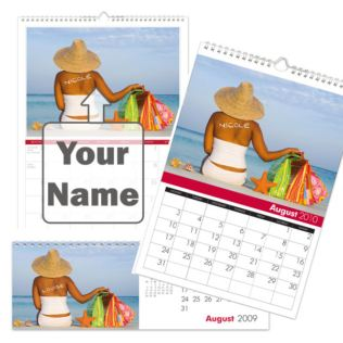 Personalised Shop Till You Drop Calendar Product Image