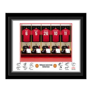 Personalised Manchester United Dressing Room Framed Photo Product Image