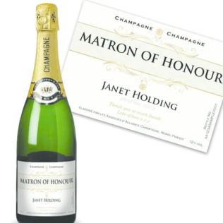 Matron of Honour Personalised Champagne Product Image