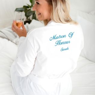 Personalised Embroidered Matron Of Honour Dressing Gown Product Image