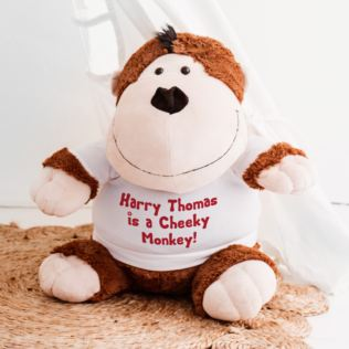 Extra Large Personalised Monkey Soft Toy Product Image