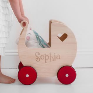 Personalised Childrens Moover Wooden Pram Product Image
