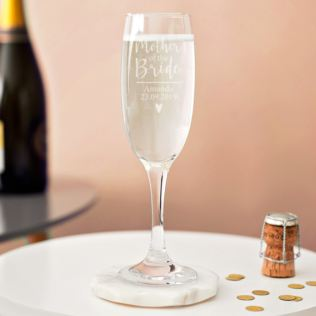 Personalised Mother Of The Bride Prosecco Glass Product Image