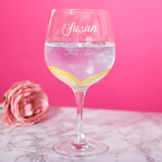 Personalised Mother Of The Groom Gin Glass Product Image