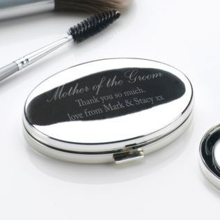 Engraved Mother Of The Groom Oval Compact Mirror Product Image
