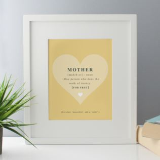 Mother Noun Framed Print Product Image