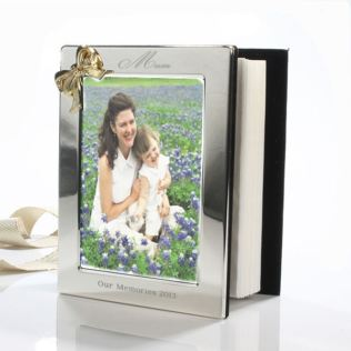 Mother's Day Engraved Photo Album With Gold Coloured Bow Product Image
