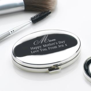 Mother's Day Engraved Oval Compact Mirror Product Image