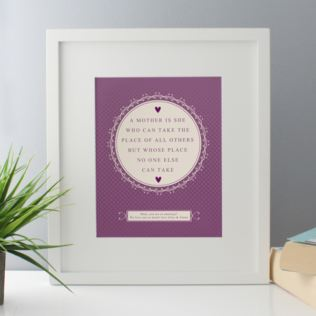Personalised A Mother Is Framed Print Product Image