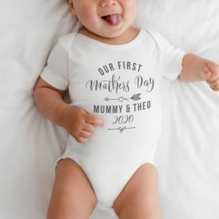 Personalised Our First Mother's Day Baby Grow Product Image