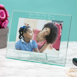 Luxury Personalised Glass Photo Frame Product Image
