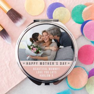 Mother's Day Photo Upload Compact Mirror Product Image