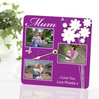 Mother's Day Personalised Photo Clock Product Image