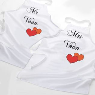 Mr & Mrs Personalised Aprons Product Image