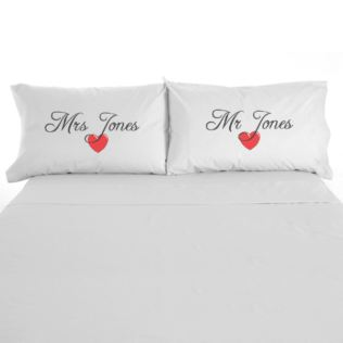 Pair Of Mr & Mrs Pillowcases Product Image