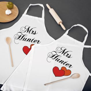 Mrs and Mrs Personalised Aprons Product Image