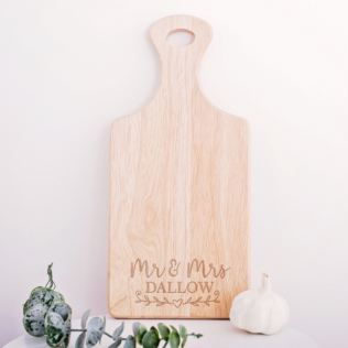 Personalised Mr & Mrs Chopping Board Product Image