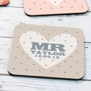 Personalised Mr & Mrs Coasters Product Image