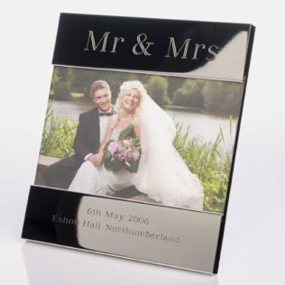 Engraved Mr & Mrs Photo Frame Product Image