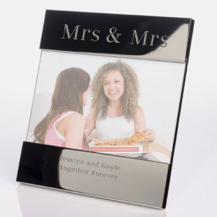 Engraved Mrs & Mrs Photo Frame Product Image