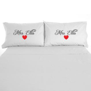 Mrs and Mrs Personalised Pillow Cases Product Image