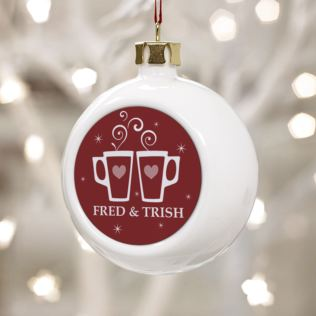 Enjoying Mulled Wine Together Since - Personalised Bauble Product Image