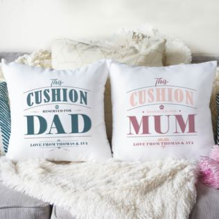 Personalised Pair Of Mum & Dad Cushions Product Image