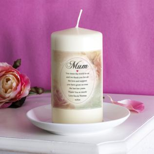 Personalised Floral Design Mum Candle Product Image