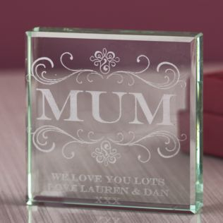 Personalised Mum Glass Keepsake Product Image