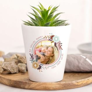 Personalised Photo Plant Pot For Mum Product Image
